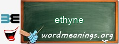 WordMeaning blackboard for ethyne